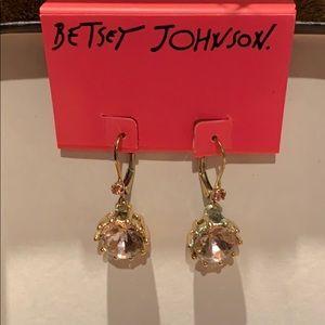 Betsy Johnson drop stone earrings